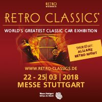 Retro Classics Stuggart -  22nd - 25th March 2018